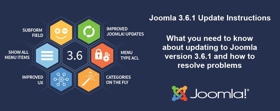 Special Steps To Update To Joomla 3.6.1