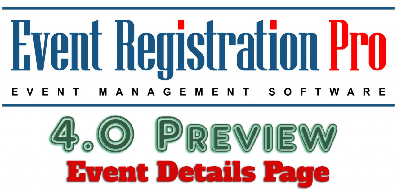 Event Registration Pro 4.0 Preview - Event Details Page