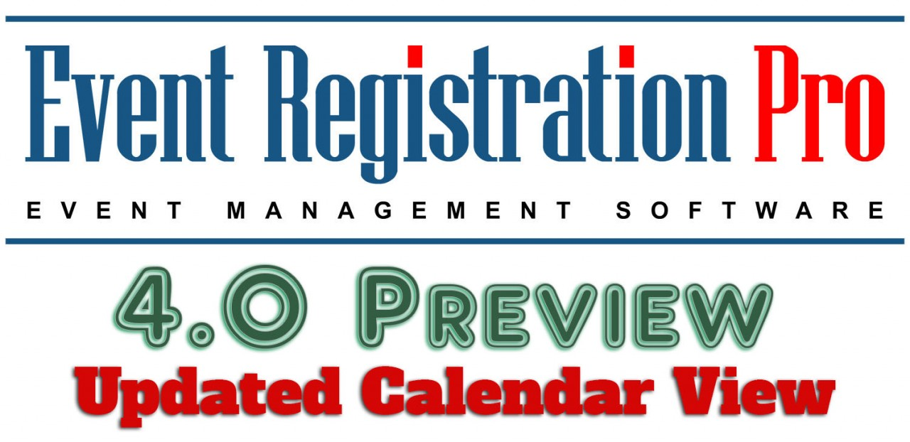 Event Registration Pro 4.0 Preview - Calendar Preview