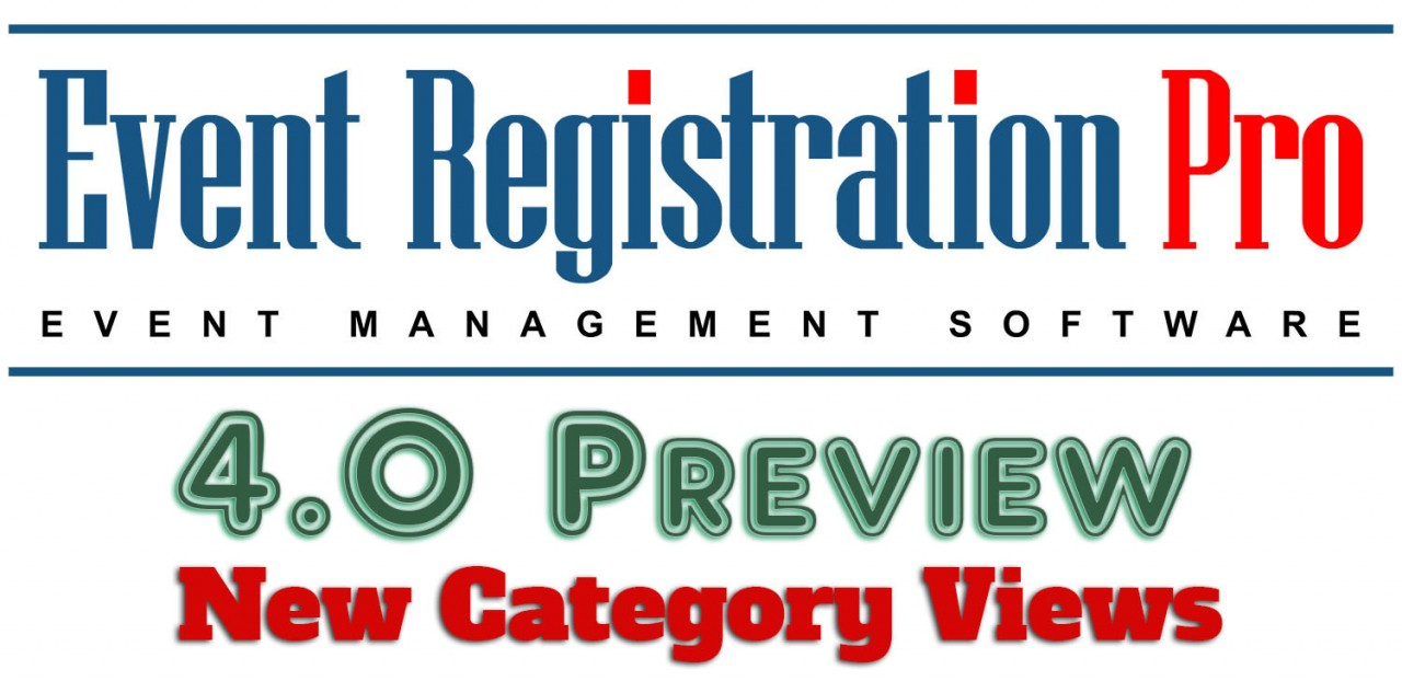 Event Registration Pro 4.0 Preview - New Category Views