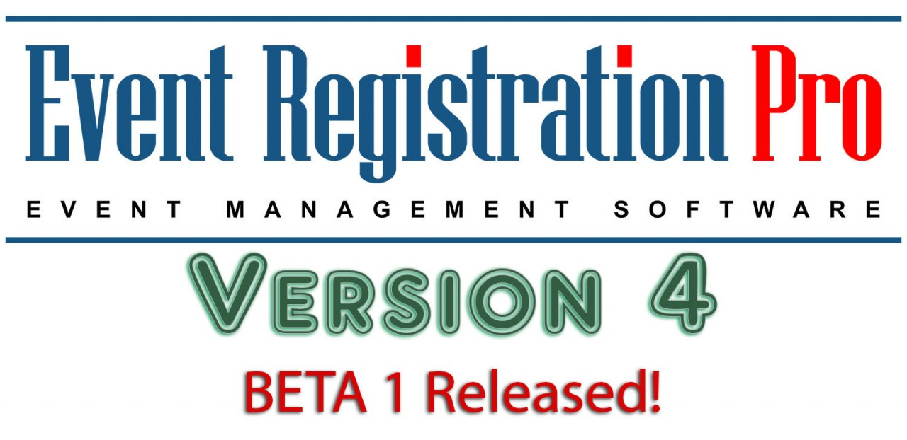 Event Registration Pro 4 Beta 1 Is Here