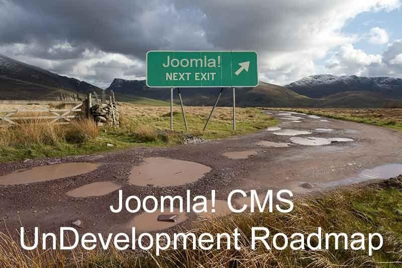 The Joomla CMS 2015/2016 Development Roadmap Is Full of Potholes