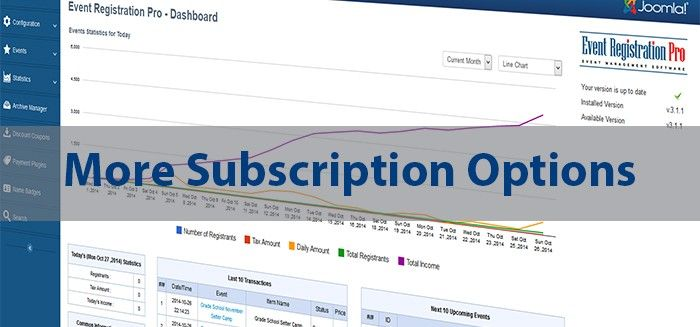 Multiple subscription packages are back by popular demand