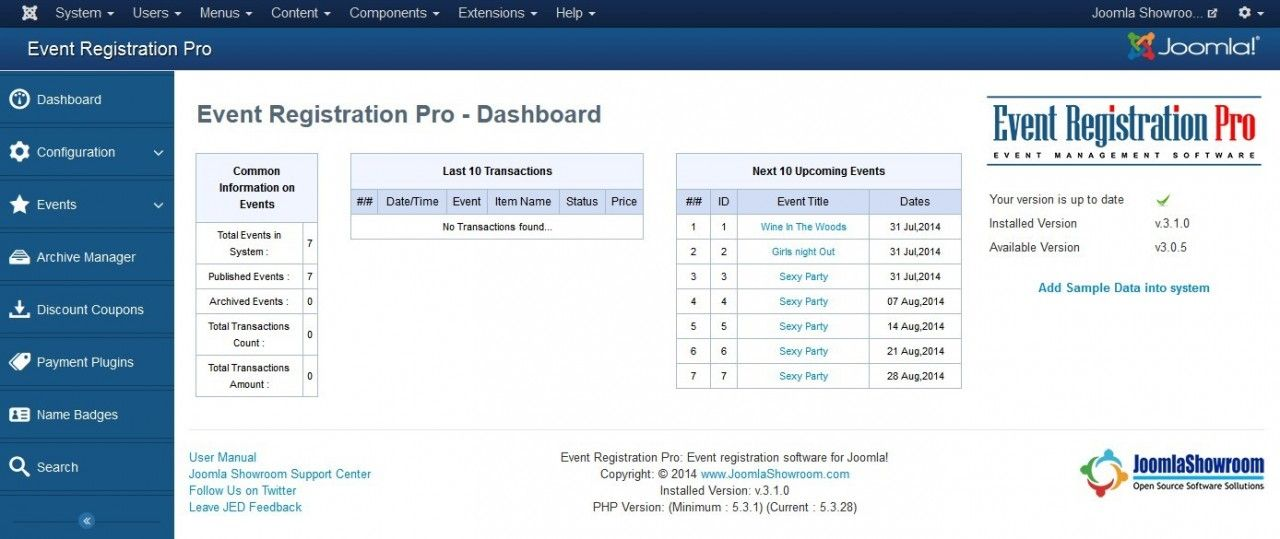 Event Registration Pro 3.1.0 with new APP Style Design